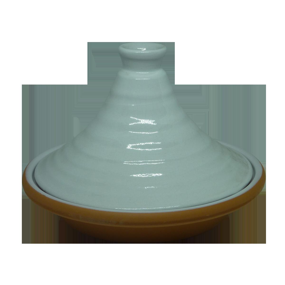Esprit Cuistot - Tajine individuel Blanc nature en céramique 21 cm