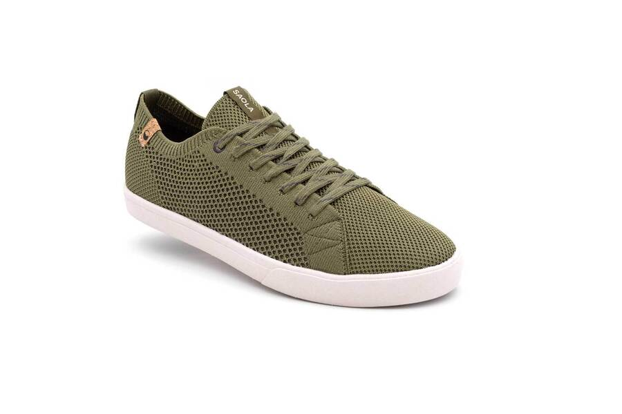 Saola shoes - Cannon Knit Homme Burnt Olive 43