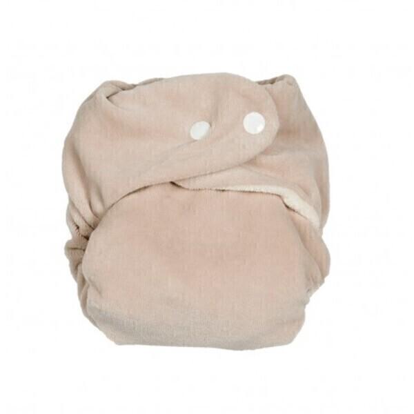 P'tits Dessous - Couche lavable So Bamboo, Taille Unique (3-16 kg) -Caillou-Blanc