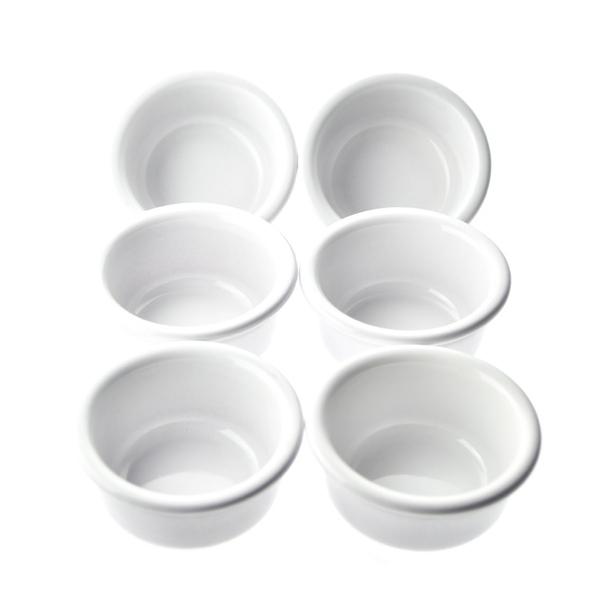 Esprit Cuistot - Set 6 ramequins céramique blanc 10 cm
