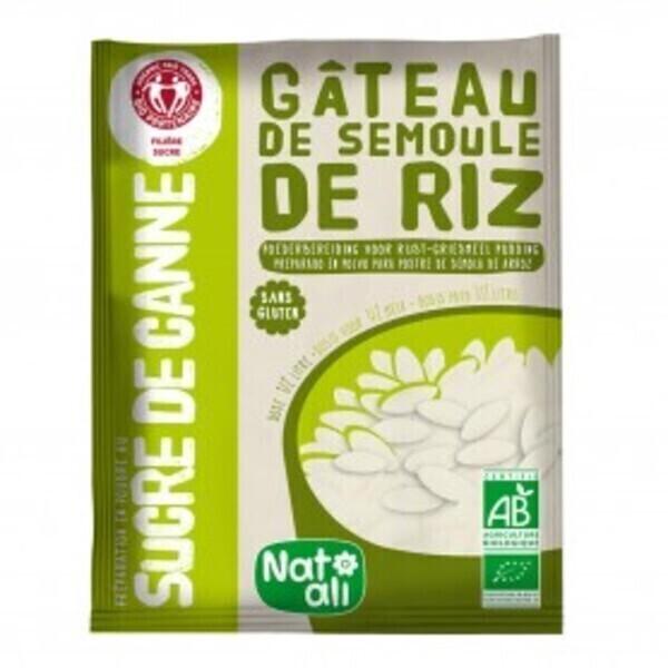 Natali - Préparation pour gâteau de semoule de riz sans gluten 75g bio