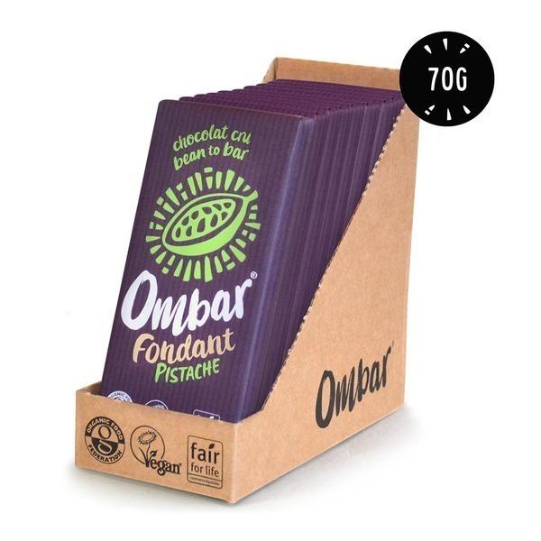 Ombar - Lot de 9+1 Chocolat Cru Fondant Pistache 70g Bio