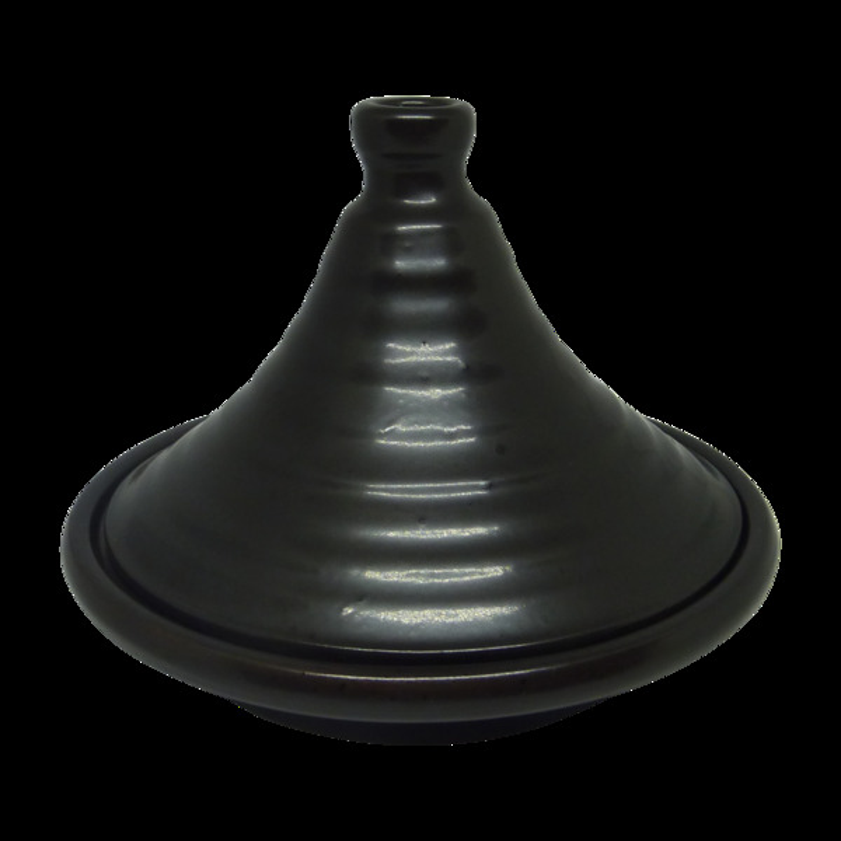 Esprit Cuistot - Tajine individuel Moon noir en céramique 21cm