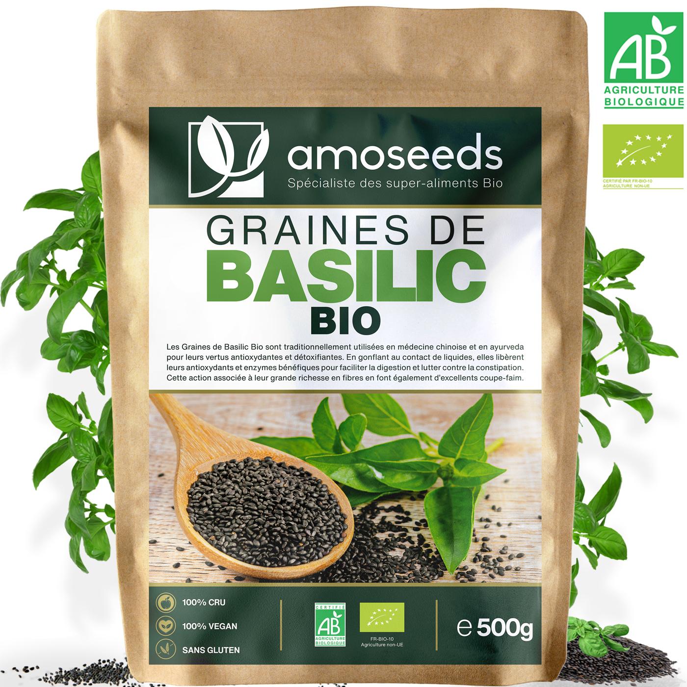 amoseeds - Graines de Basilic Bio 500g