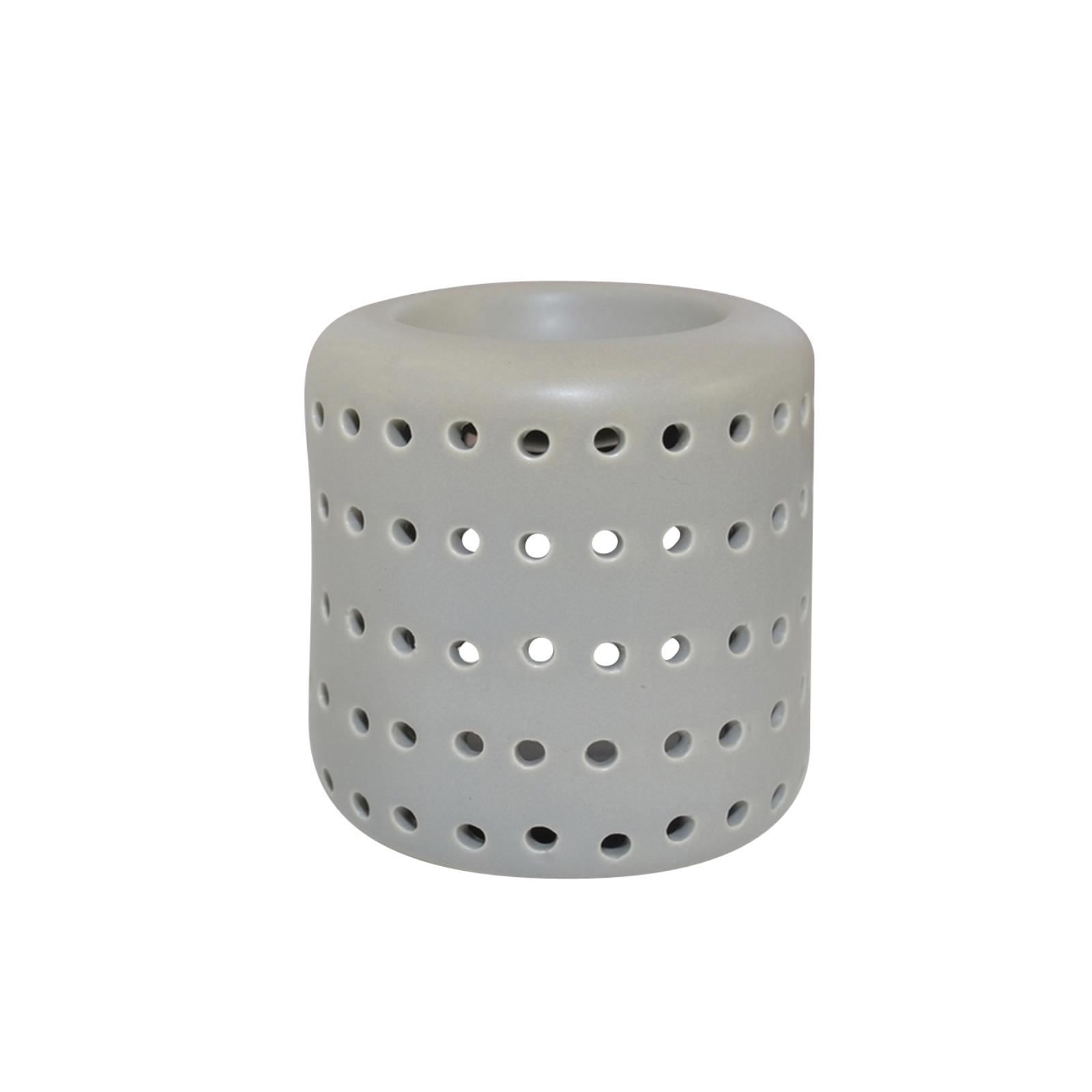 Zen' Arôme - Brûle Parfum en Céramique Coliseo Gris