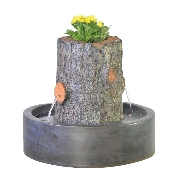 Zen' Light - Fontaine d'Intérieur Jardinière Artpot avec Eclairage Led