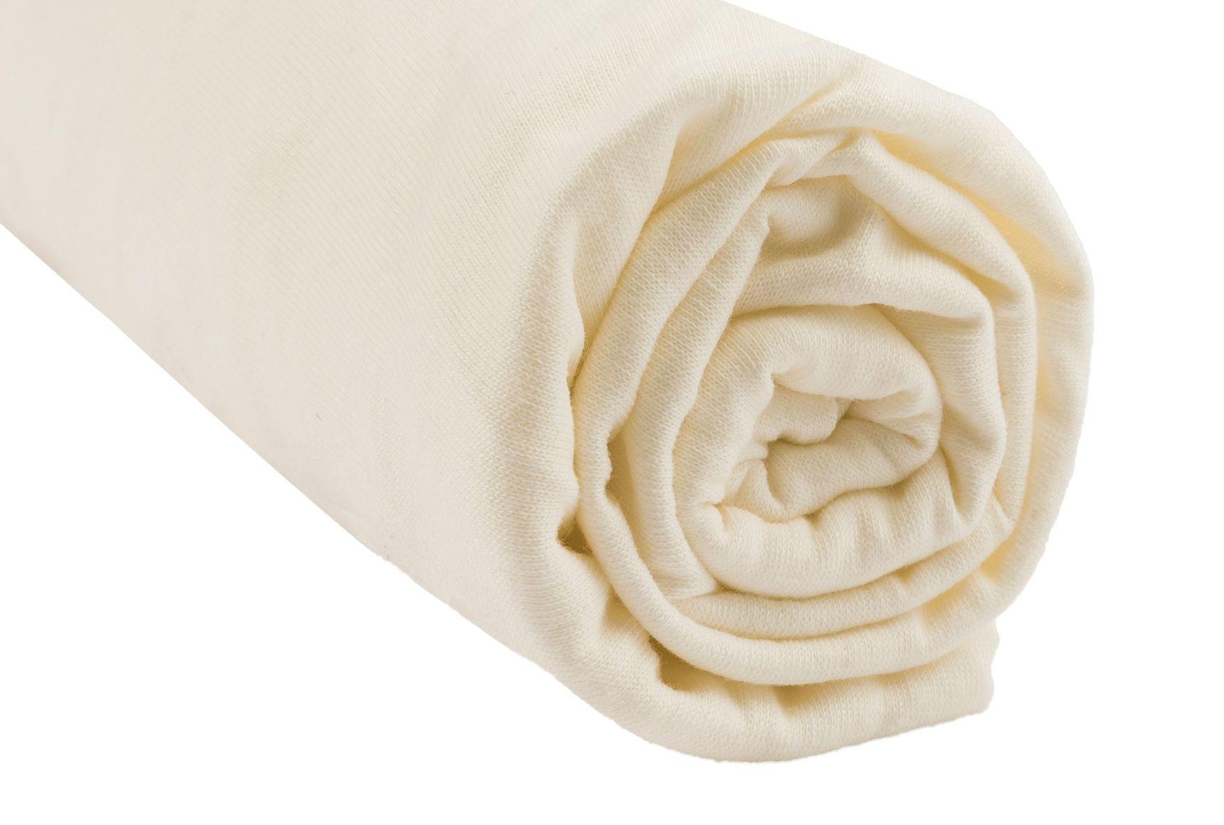 Easy Dort - Drap housse 100% Coton Bio pour lit 140x190 / 140x200 cm - Écru