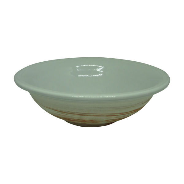 Esprit Cuistot - Assiette Creuse en céramique Blanc Nature 20 cm (par 4)