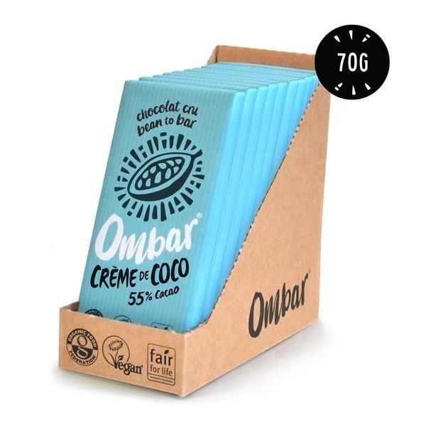 Ombar - Lot de 9+1 Chocolats Crus à la Crème de Coco 70g Bio