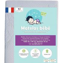 Easy Dort - Matelas 70x140 cm lit bébé / lit enfant en Bambou