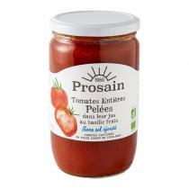 ProSain - Tomates entières pelées-basilic sans sel ajouté 660gr bio