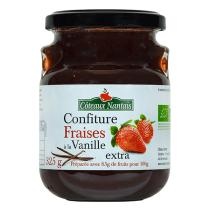 Côteaux Nantais - Confiture fraises à la vanille extra 325 g