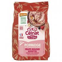 Celnat - Porridge fruits rouges et noisettes Demeter 350g