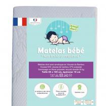 Easy Dort - Matelas 60x120 cm lit bébé en Bambou