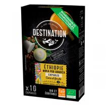 Destination - Moka pur arabica Ethiopie Capsules x10