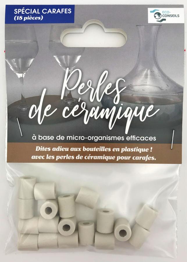 Éco-conseils - Perles de céramique - Carafes