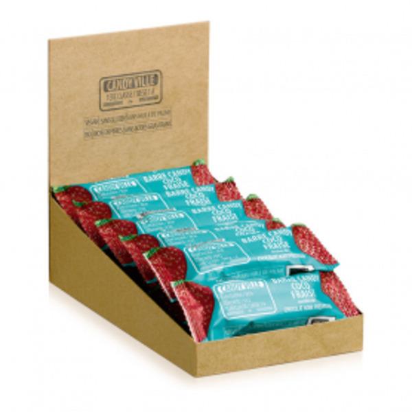 Candy Ville - Lot de 15+3 Barres Candy Coco Fraise 50g Bio