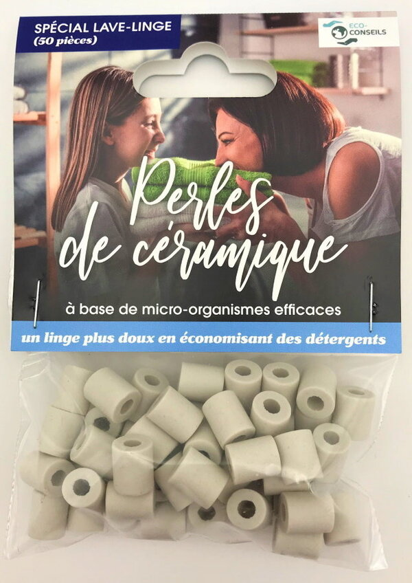 Éco-conseils - Perles de céramique - Lave-linge