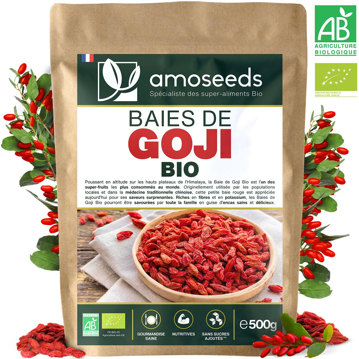 amoseeds - Baies de Goji Bio 500g Himalaya