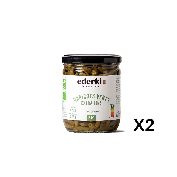 Ederki - Haricots verts extra fins lot de 2