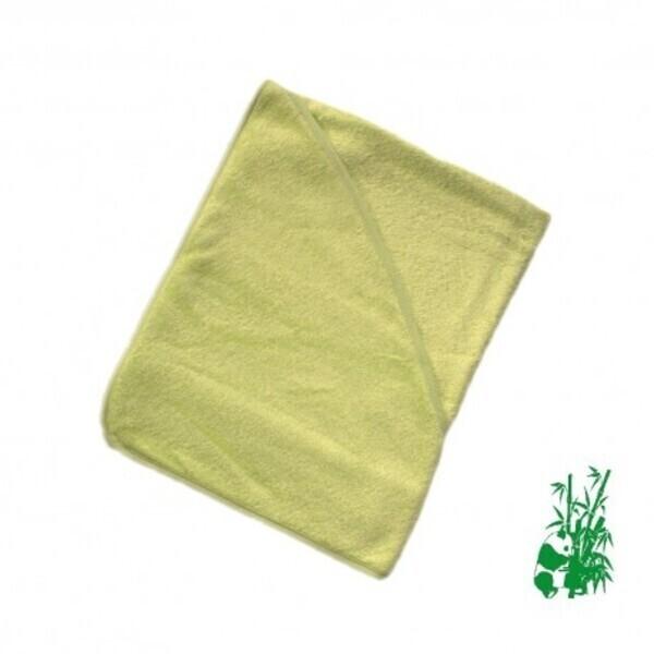 P'tits Dessous - Cape de bain bébé en éponge viscose de Bambou - Vert