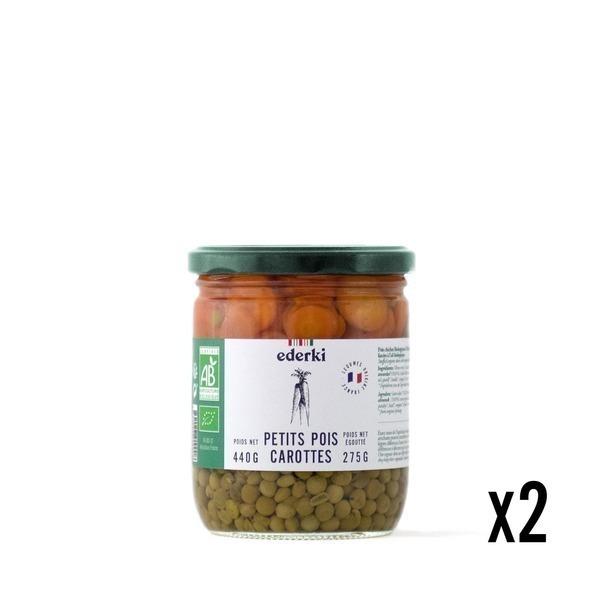Ederki - Petits pois carottes lot de 2