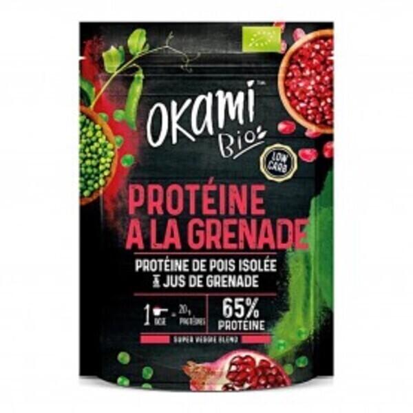 Okami Bio - Protéine de Pois à la Grenade Bio 500g