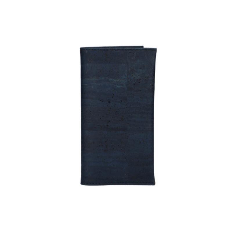 """OAK Forest - Porte chéquier en liège naturel """"Color"""" Bleu marine"""