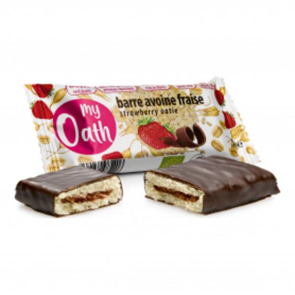 My Oath - Barre Avoine-Fraise enrobée de chocolat Bio 50g