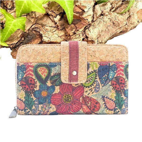 """OAK Forest - Portefeuille en liège naturel """"Pocket"""" Marron"""