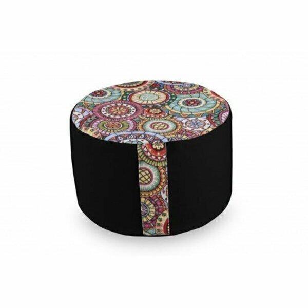 Owaï - Pouf de salon Mandala Noir