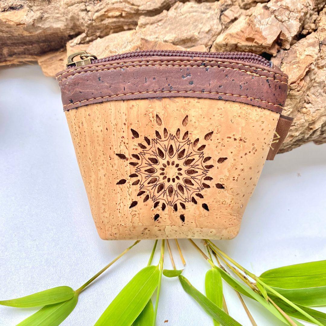 """OAK Forest - Portefeuille en liège naturel """"Pocket"""" Noir"""