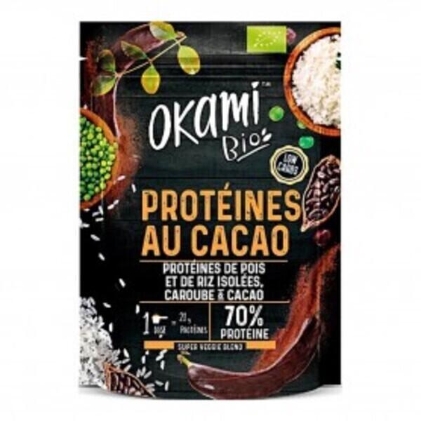 Okami Bio - Protéine de Pois Caroube-Cacao Bio 500g