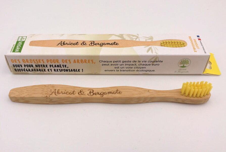 Abricot et Bergamote - Brosses à dent - Enfant jaune