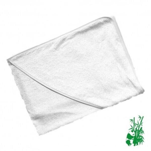 P'tits Dessous - Cape de bain bébé en Éponge viscose de Bambou  - Blanc