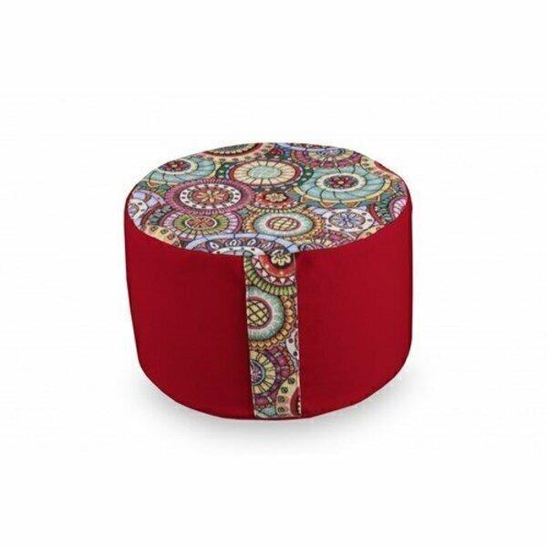 Owaï - Pouf de salon Mandala Rouge