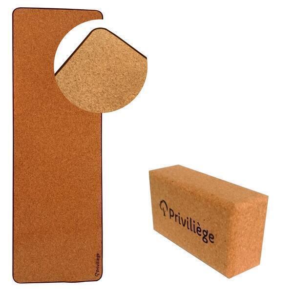 Priviliège - Tapis yoga namaste + brique