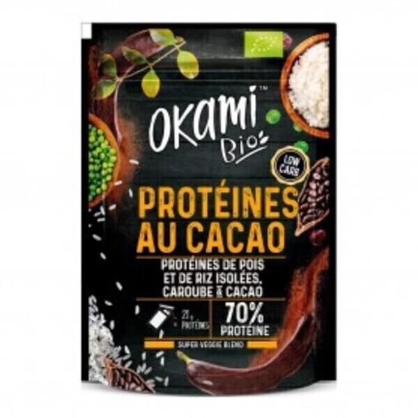 Okami Bio - Protéine de Pois Caroube-Cacao Bio 30g