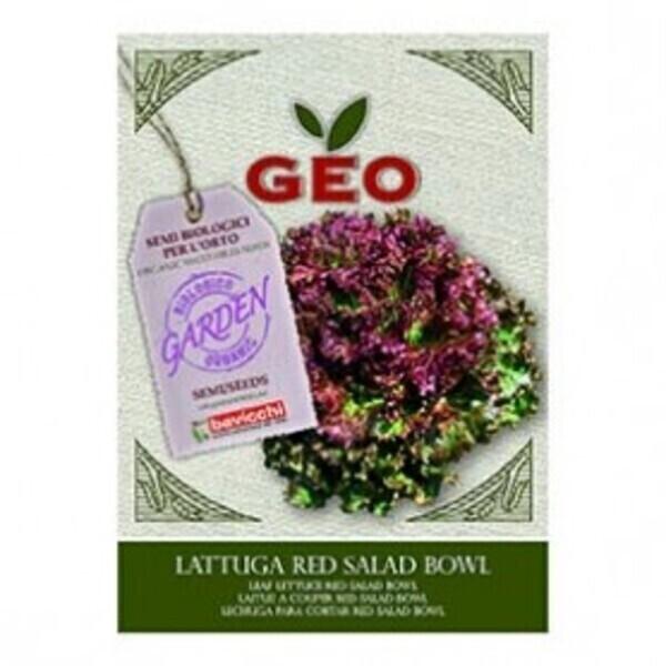 Géo - Semences pour Laitue à couper Red Salad Bowl Bio 4,5g
