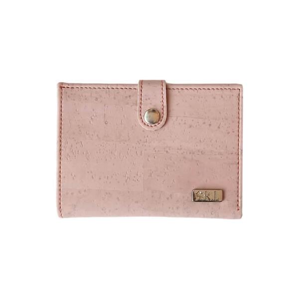 Karmyliege - porte-monnaie en liège rose pastel femme, Zoé