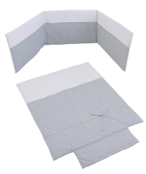 Micuna - Couette et tour de lit 140 x 70 cm Nature gris
