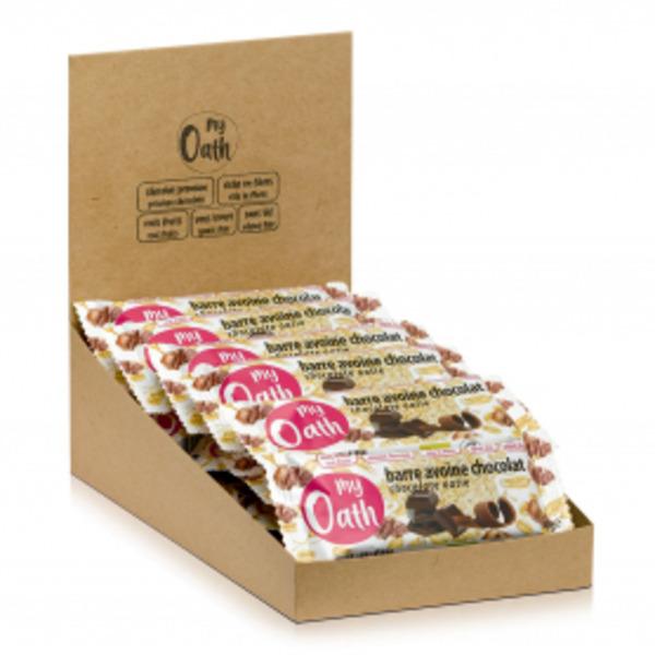 My Oath - Lot de 17+3 Barres Avoine-Chocolat enrobée de chocolat Bio 50g