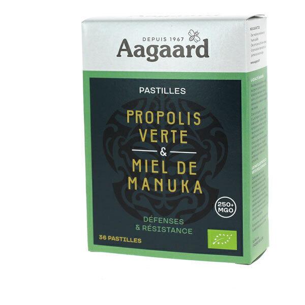 Aagaard Propolis - Pastilles de Propolis verte et Miel de Manuka x36