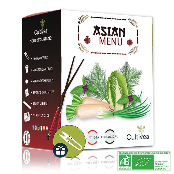 Cultivea - Kit Prêt à Pousser Menu Asiatique BIO*