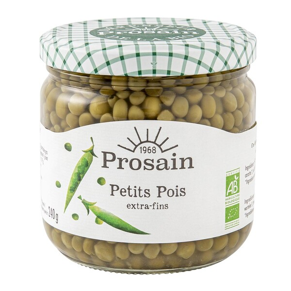 ProSain - Petits pois extra-fins 38,8cl bio