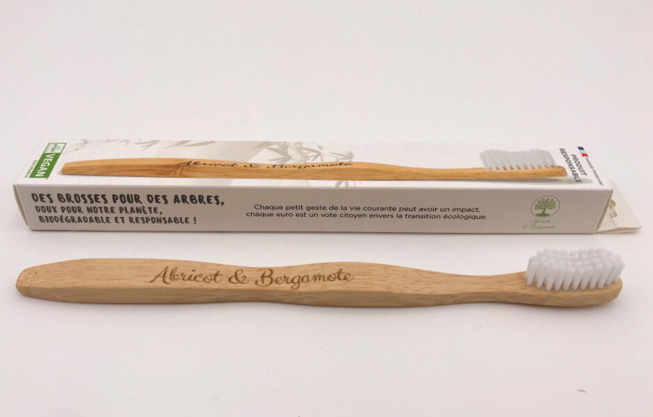 Abricot et Bergamote - Brosses à dent - Adulte blanche