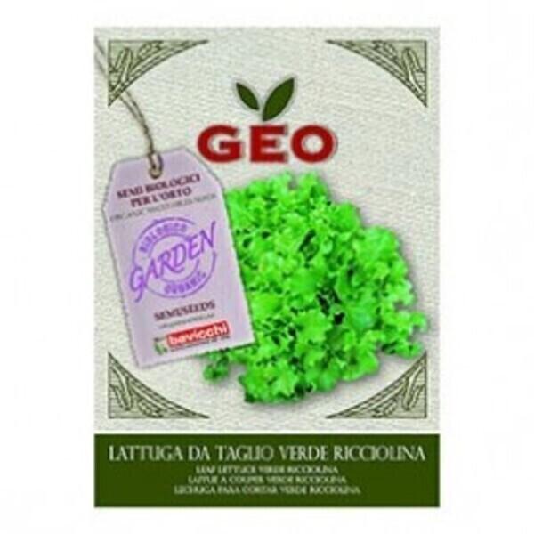 Géo - Semences pour Laitue à couper Verde Ricciolina Bio 6g