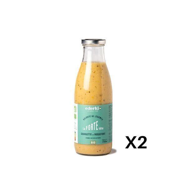 Ederki - Soupe courgette roquefort lot de 2