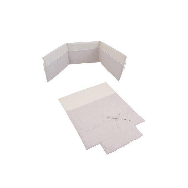 Micuna - Couette et tour de lit 120 x 60 cm Nature beige
