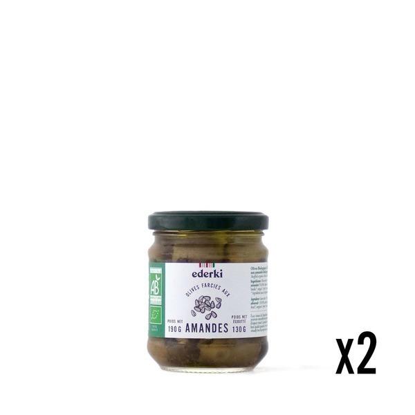 Ederki - Olives farcies aux amandes lot de 2
